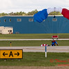 122 - Liberty Parachute Team member descends into Wings over Waukegan 2012
