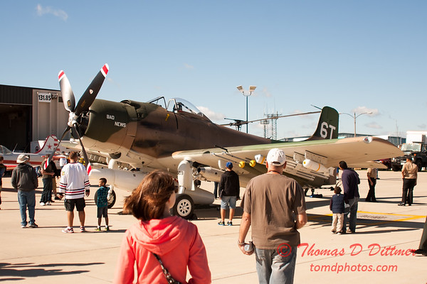34 - Douglas A-1 Skyraider on display at Wings over Waukegan 2012