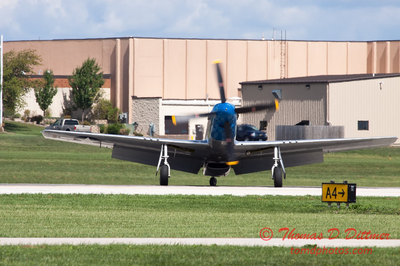 "51 - Vlado Lenoch and his P-51 Mustang ""Moonbeam McSwine"" at Wings over Waukegan 2012"