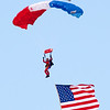 103 - Liberty Parachute Team member descends into Wings over Waukegan 2012
