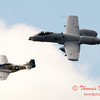 "766 - Vlado Lenoch in his P-51 Mustang and A-10 East fly the ""Heritage Flight at Wings over Waukegan 2012"