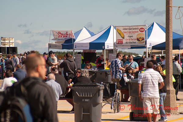 47 - Air show patrons visit food booths at Wings over Waukegan 2012