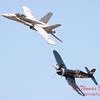 1289 - F4U Corsair and VFA 106 Hornet East F/A-18 US Navy Legacy Flight performing at Wings over Waukegan 2012