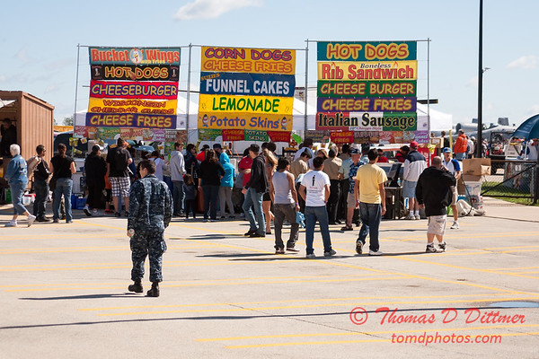 45 - Air show patrons visit food booths at Wings over Waukegan 2012