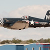 1094 - F4U Corsair departs Wings over Waukegan 2012