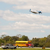"""902 - The """"RACE"""" is on! Paul Stender and the Indy Boys School bus against Vlado Lenoch and his P-51 at Wings over Waukegan 2012"""