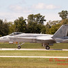 1330 - The VFA 106 Hornet East F/A-18 has landed and will be returning to parking at Wings over Waukegan 2012