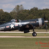 1323 - The F4U Corsair has landed and is returning to parking at Wings over Waukegan 2012
