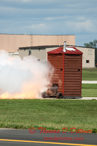 "492 - Paul Stender and the Indy Boys Mobile Out House bring new meaning to ""Hot Gas"" at Wings over Waukegan 2012"