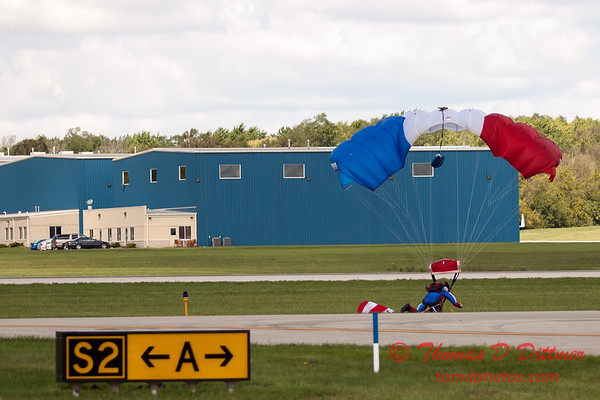 123 - Liberty Parachute Team member descends into Wings over Waukegan 2012