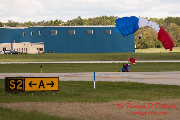 125 - Liberty Parachute Team member descends into Wings over Waukegan 2012