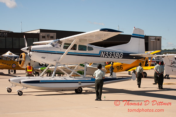 28 - Cessna A185F on floats on display at Wings over Waukegan 2012