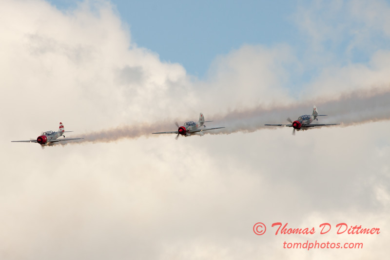 244 - Team Aerostar in Yakovlev Yak-52's perform at Wings over Waukegan 2012