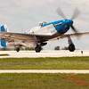 747 - Vlado Lenoch in his P-51 Mustang departs Wings over Waukegan 2012