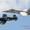 1294 - F4U Corsair and VFA 106 Hornet East F/A-18 US Navy Legacy Flight performing at Wings over Waukegan 2012
