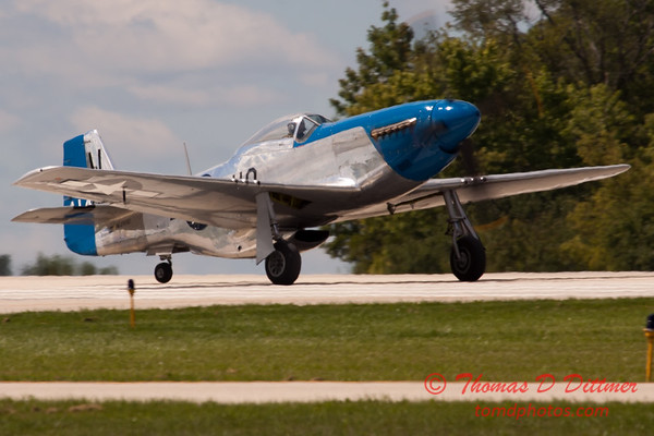 749 - Vlado Lenoch in his P-51 Mustang departs Wings over Waukegan 2012