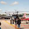 41 - Nanchang CJ6 trainer aircraft and Bell UH1 Iroquois Helicopter on display at Wings over Waukegan 2012