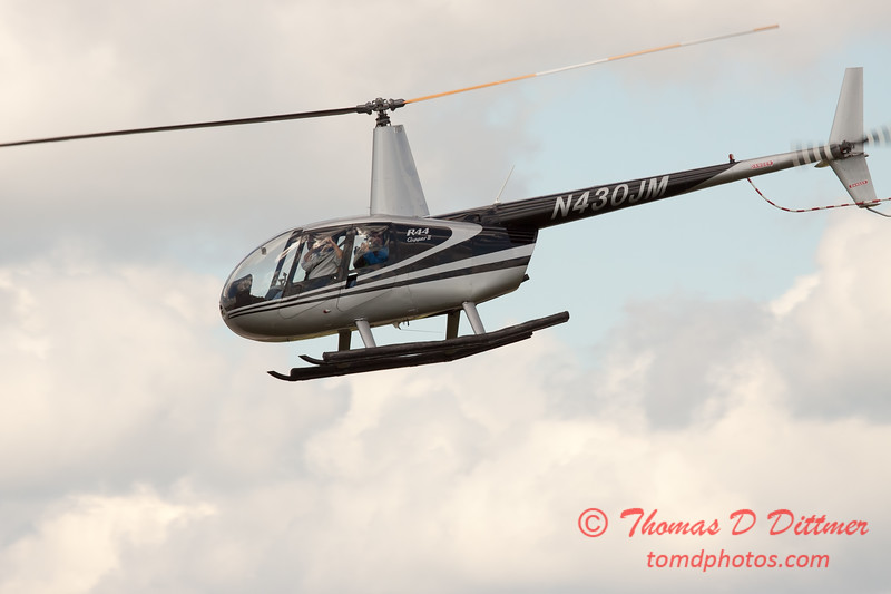 90 - Photographers in a Robinson R44 Helicopter survey Wings over Waukegan 2012