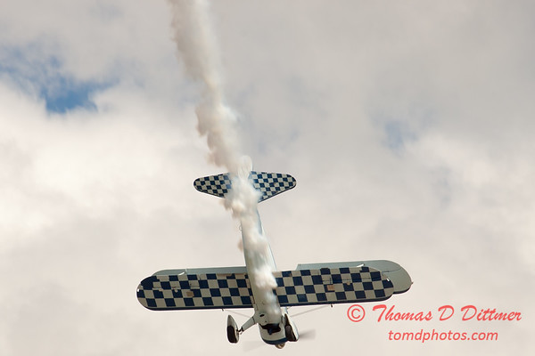 145 - Dave Dacy in his Boeing PT-17 Stearman perform at Wings over Waukegan 2012