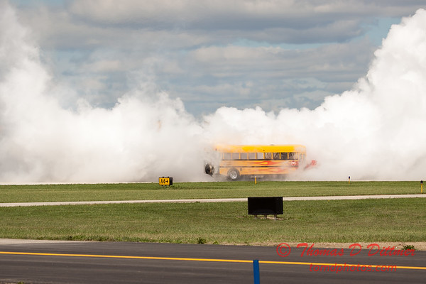 886 - Paul Stender and the Indy Boys School bus ignites the crowd at Wings over Waukegan 2012