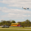 """903 - The """"RACE"""" is on! Paul Stender and the Indy Boys School bus against Vlado Lenoch and his P-51 at Wings over Waukegan 2012"""