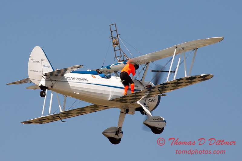 967 - Wingwalker Tony Kazian and Dave Dacy perform at Wings over Waukegan 2012