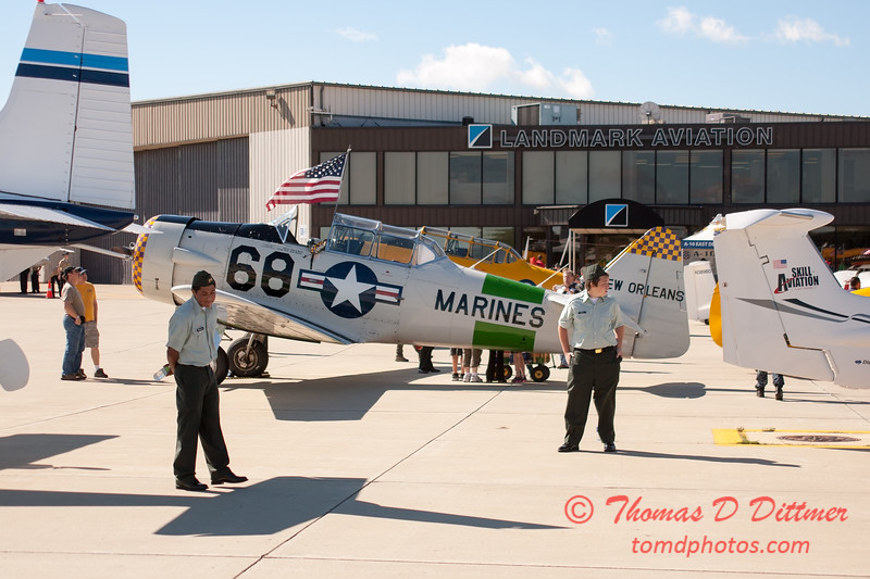 30 - North American T6 Texan on display at Wings over Waukegan 2012