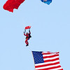 104 - Liberty Parachute Team member descends into Wings over Waukegan 2012