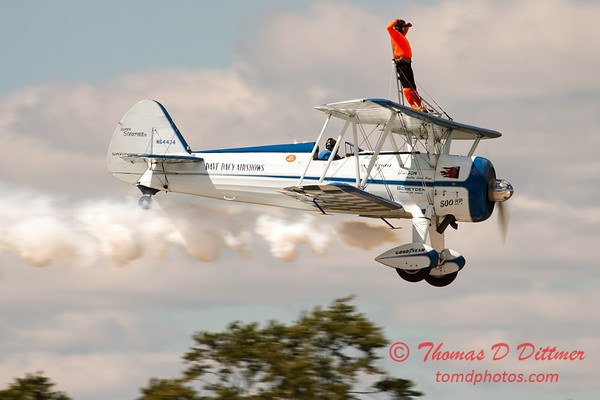 997 - Wingwalker Tony Kazian and Dave Dacy perform at Wings over Waukegan 2012