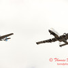 """791 - Vlado Lenoch in his P-51 Mustang and A-10 East in the """"Heritage Flight"""" at Wings over Waukegan 2012"""