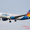 57 - Allegiant Airways approaches Runway 29 for landing at Central Illinois Regional Airport - Bloomington Illinois - Sunday March 9th 2014