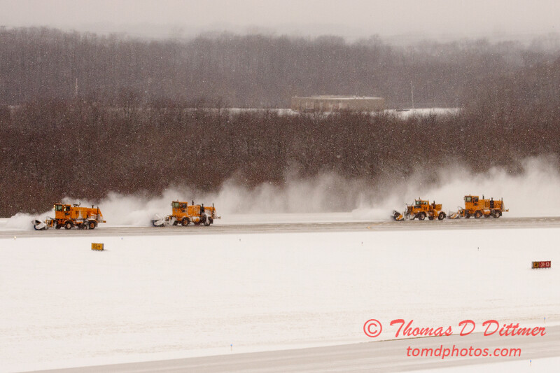 25 - Snow removal from the runway - Greater Peoria Regional Airport - Peoria Illinois - Sunday January 25th 2009