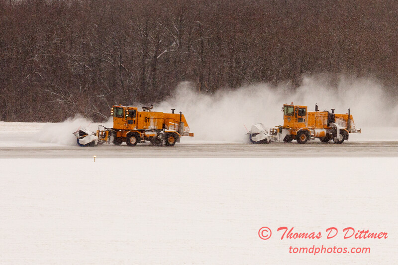 27 - Snow removal from the runway - Greater Peoria Regional Airport - Peoria Illinois - Sunday January 25th 2009