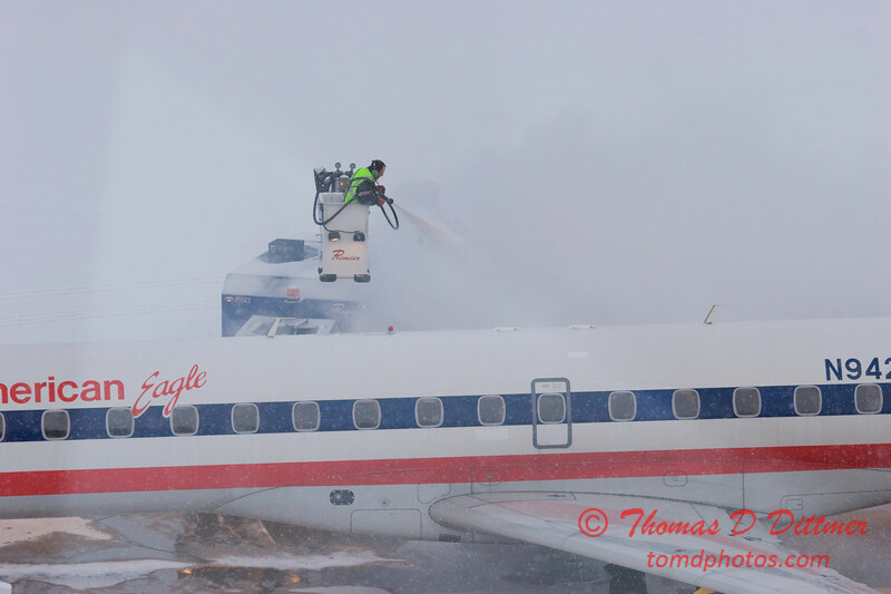 Peoria Airport Snow Removal Operations on a snowy January day - 6
