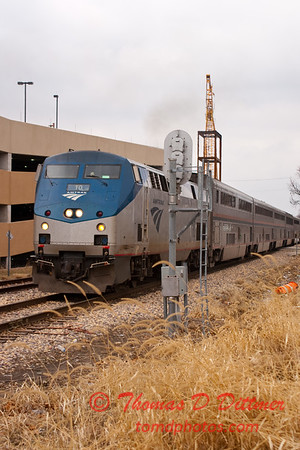2011 - Southbound Amtrak Train -  Normal Illinois - 3/7 - 20
