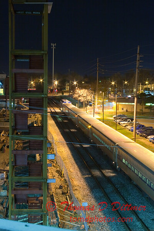 2011 - 4/2 - Amtrak Train Station at night in Uptown Normal Illinois - 6