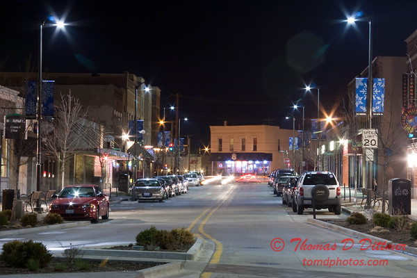 2011 - 4/1 - Night time in Uptown Normal Illinois - 5