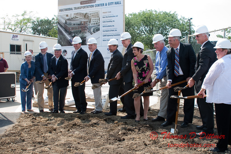 2010 - MultiModal Transportation Center Ground Breaking Ceremony - Uptown Normal Illinois - Saturday August 7 - 64