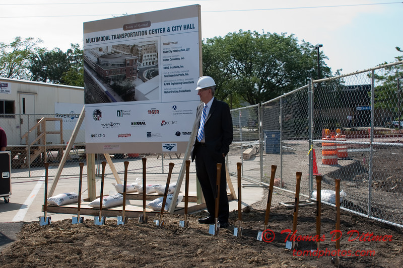 2010 - MultiModal Transportation Center Ground Breaking Ceremony - Uptown Normal Illinois - Saturday August 7 - 58