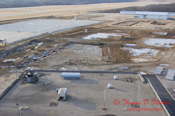 New Construction Site - General Wayne A Downing Peoria International Airport - January 4 2009 - 1
