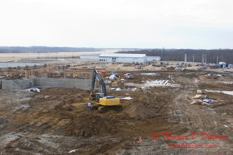 New Construction Site - General Wayne A Downing Peoria International Airport - February 9 2009 - 11