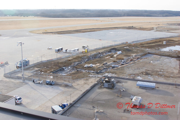 New Construction Site - General Wayne A Downing Peoria International Airport - January 4 2009 - 2