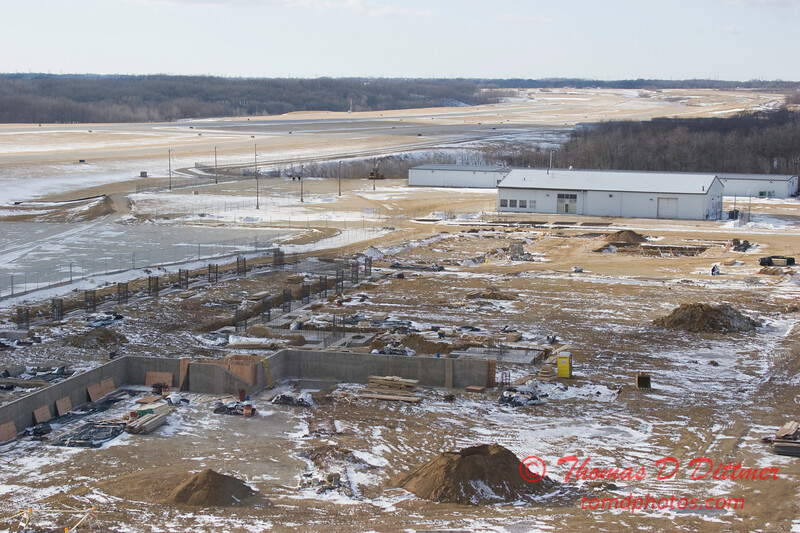 New Construction Site - General Wayne A Downing Peoria International Airport - February 3 2009 - 4