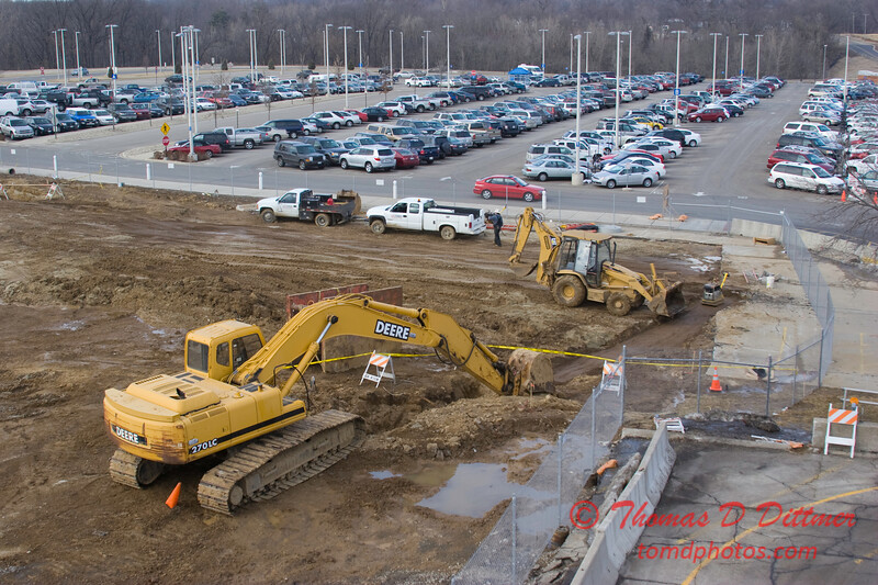 New Construction Site - General Wayne A Downing Peoria International Airport - February 9 2009 - 9