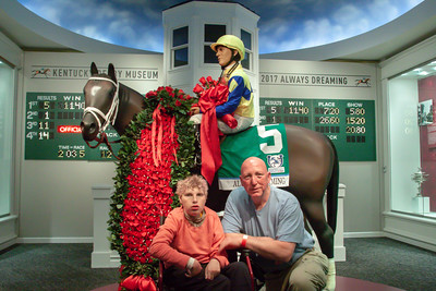 Aubrey & Tom in the Kentucky Derby Museum