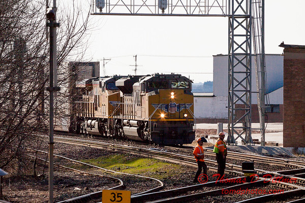 Train Spotting from Rochelle Railroad Park - #1