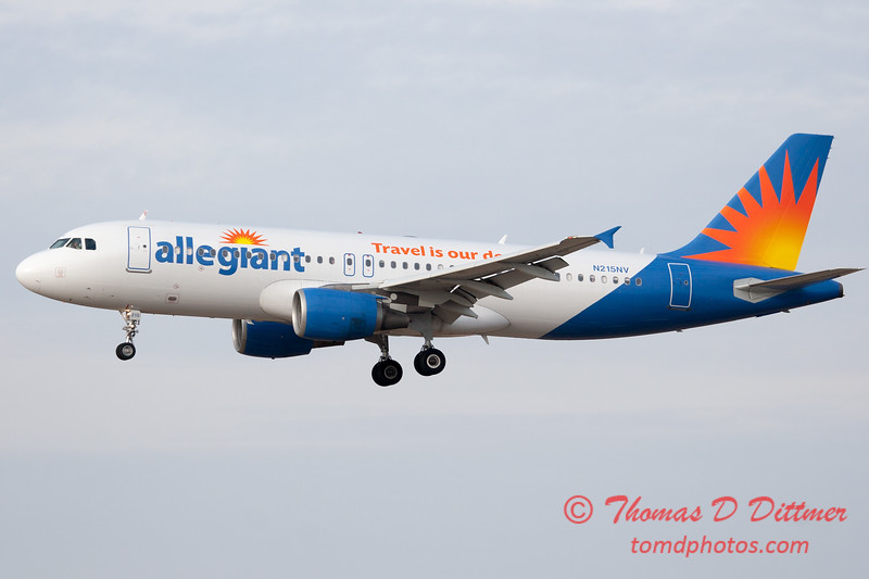 58 - Allegiant Airways approaches Runway 29 for landing at Central Illinois Regional Airport - Bloomington Illinois - Sunday March 9th 2014