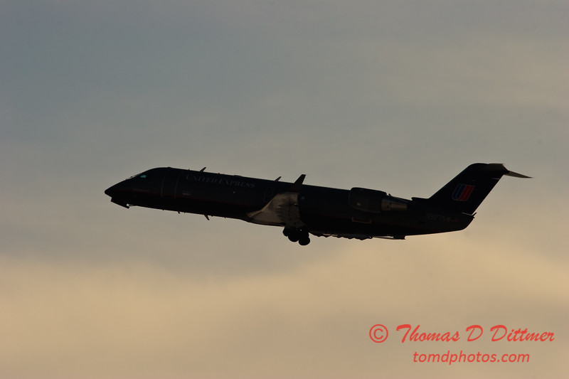 2010 - United Express - Greater Peoria Regional Airport - Peoria Illinois - January 6th - 11