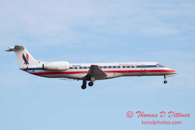 45 - American Eagle approaches Runway 20 for landing at Central Illinois Regional Airport - Bloomington Illinois - Sunday March 9th 2014