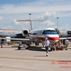 46 - American Eagle Embraer E145 on display at the 2012 Rockford Airfest - Chicago Rockford International Airport - Rockford Illinois - Sunday June 3rd 2012